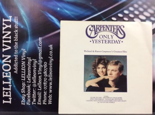 Carpenters Only Yesterday Greatest Hits LP Album Vinyl AMA1990 A1U/B2U Pop 90's Music:Records:Albums/ LPs:Pop:1990s