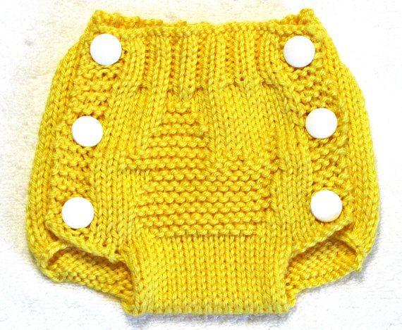 Essa fraldinha de tricô é a coisa mais linda!