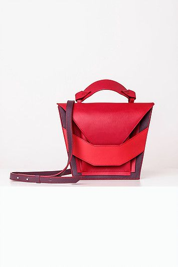 Linda Sieto / Soft Edge Part II./ FW16/17 - Layered Red Burgundy Bag