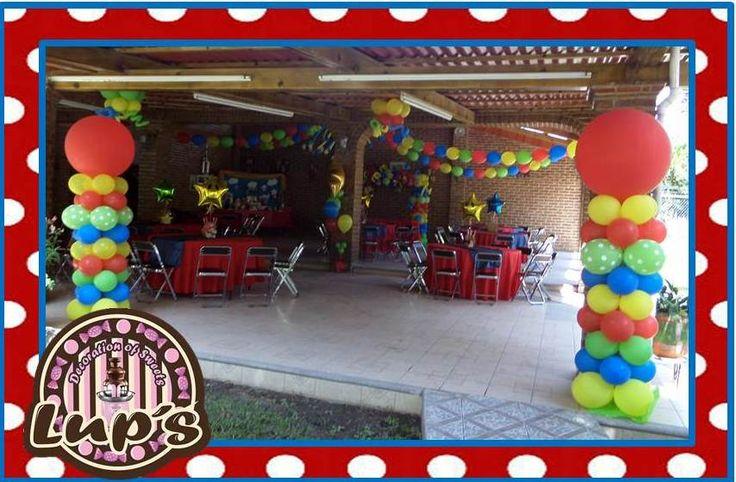 Decoracion de mario bros decoraciones de globos - Decoraciones de exteriores ...