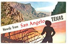 USA TEXAS SAN ANGELO 43257 POSTCARD SCENIC CHISOS GHOST MOUNTAIN TYPICAL SUNSET