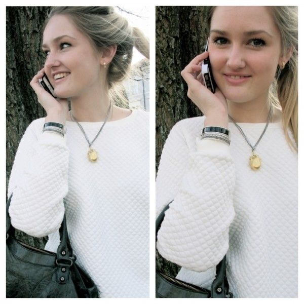 iPhone all day. Bracelet from Hermès -- Necklace from Bjørg -- Purse from Balenciaga. http://stylescandinavia.com/