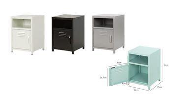 [FREE SHIP] Steel Bedside Cabinet (6 colors) | Trade Me