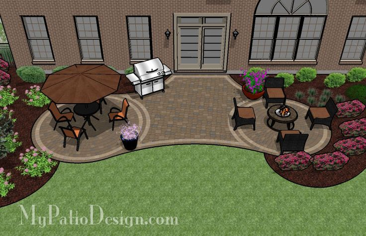 Radial Patio With Circle Paver Patterns Patio Designs