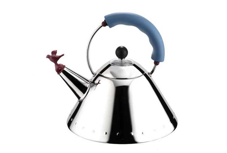 Unique Alessi Bird Whistle Stove Top Kettle With Blue Handle Alessi Kettle Michael Graves Stovetop Kettle