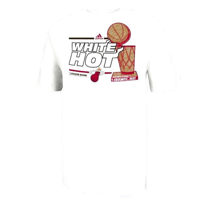 adidas Miami Heat 2013 NBA Finals Champions Locker Room T-Shirt - White - $7.59