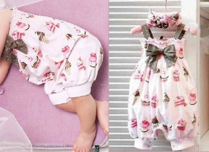 Girls Baby Ruffle Romper One Piece Pants Size 0 24M Bloomers Nappy Cover Clothes | eBay