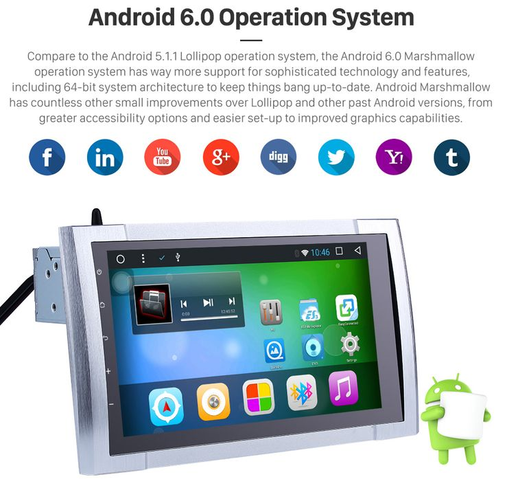 Android 6.0 Operation System 9 Inch Android 6.0 HD Touchscreen Radio For 2016 TOYOTA TUNDRA Bluetooth GPS Navigation System with OBDII Rear Camera AUX Steering Wheel Control USB 1080P Mirror Link 3G WiFi TPMS DVR