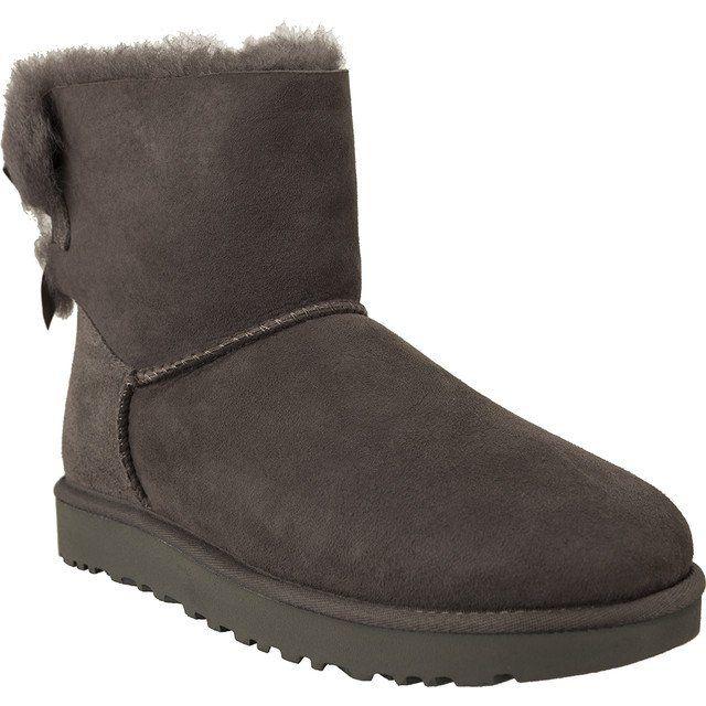 Sniegowce Damskie Ugg Ugg Szare Mini Bailey Bow Ii Grey Uggs Ugg Boots Boots