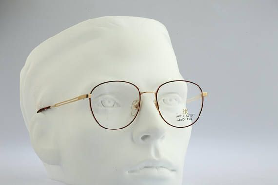 Roy Tower RT 302 GD Vintage round eyeglasses 90s mens &