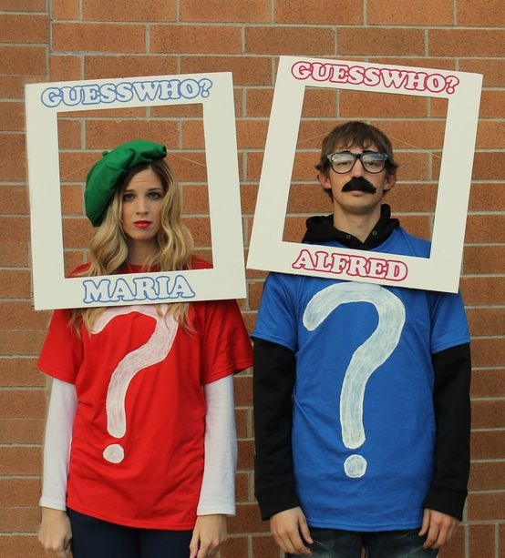 Guess Who characters. creative and easy! Next year?