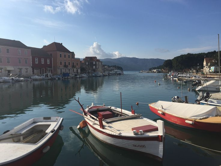 The beautiful village of Starigrad on the island of Hvar in Croatia. It literally means 'old town' and was founded by ancient Greek colonists. It has a wonderful collection of museums and fascinating buildings. A great place to explore on holiday.