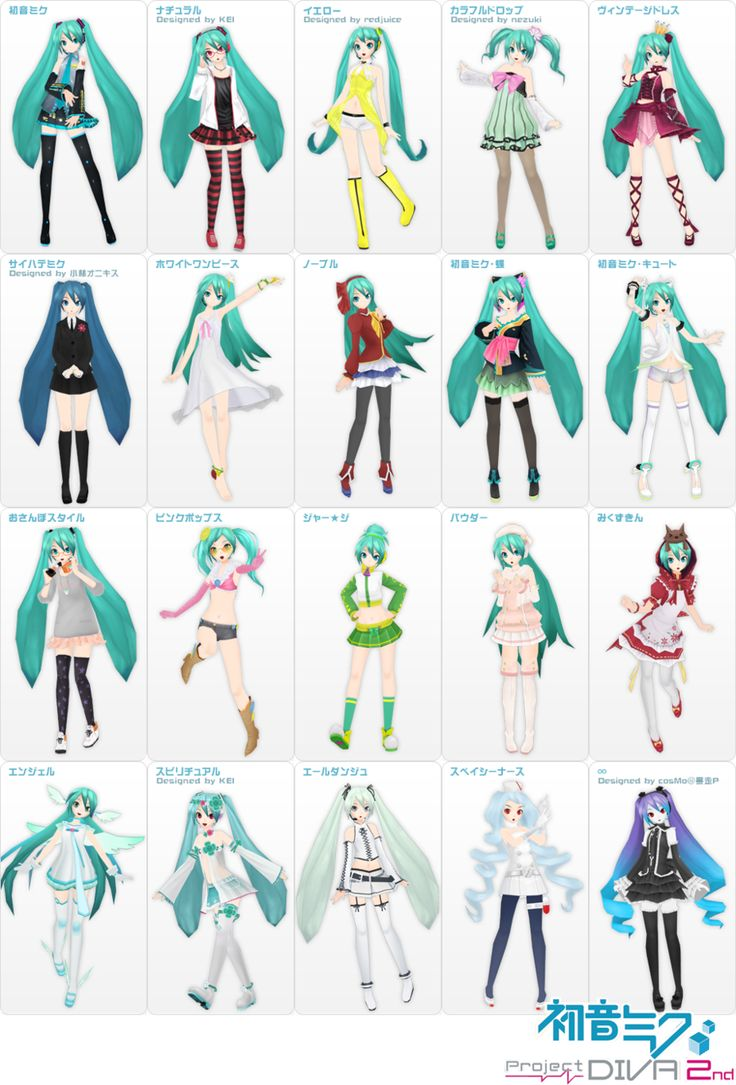 project diva 2nd costumes | Vocaloid and UTAUS | Pinterest ...