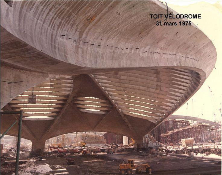 somethingconstructed: Montreal Velodrome. Roger Taillibert. 1976 Summer Olympics.
