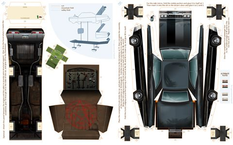 Papercraft Black Impala. Oooh found my project for tomorrow!