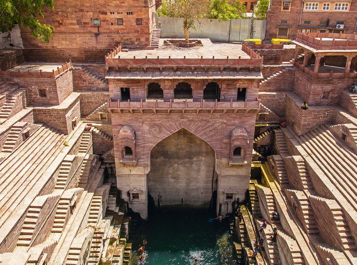 Tunwarji ka Jhalra stepwell in Jodhpur. HTSI