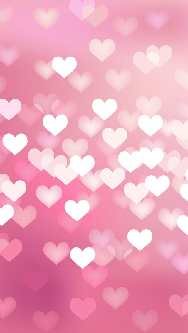 pink hearts - iPhone wallpapers dreamy lights @mobile9