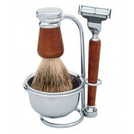 Set barbierit cu maner din lemn, Lev