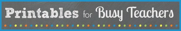 Printables for Busy Pre-K and Kindergarten Teachers