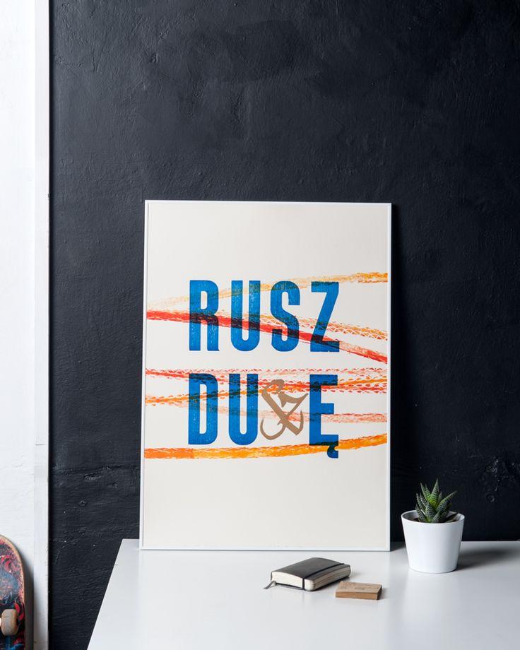 Plakat Rusz Duszę - Łukasz Zbieranowski B2, Polski Design