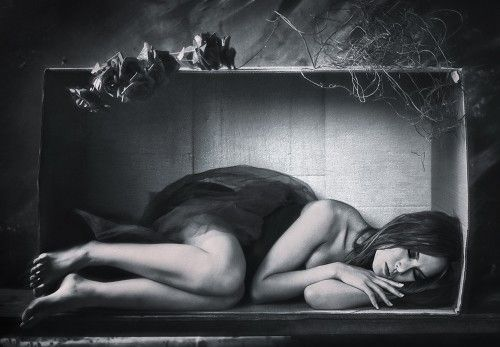 She's sleeping in the box by Rengga Marantica
