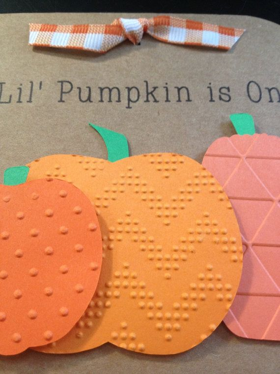 Pumpkin Invitations for Birthday Party or Baby by SimpleandPosh
