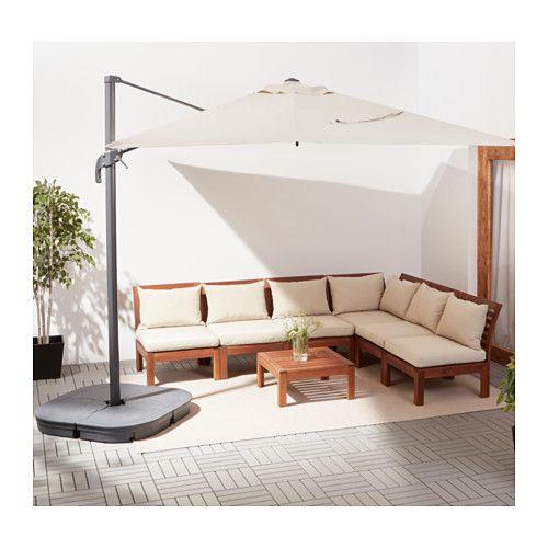 SEGLARÖ / SVARTÖ Parasol, suspendu avec socle  - IKEA