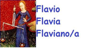 Flavio-Flavia-Flaviano-Flaviana:significato,onomastico e numerologia del nome