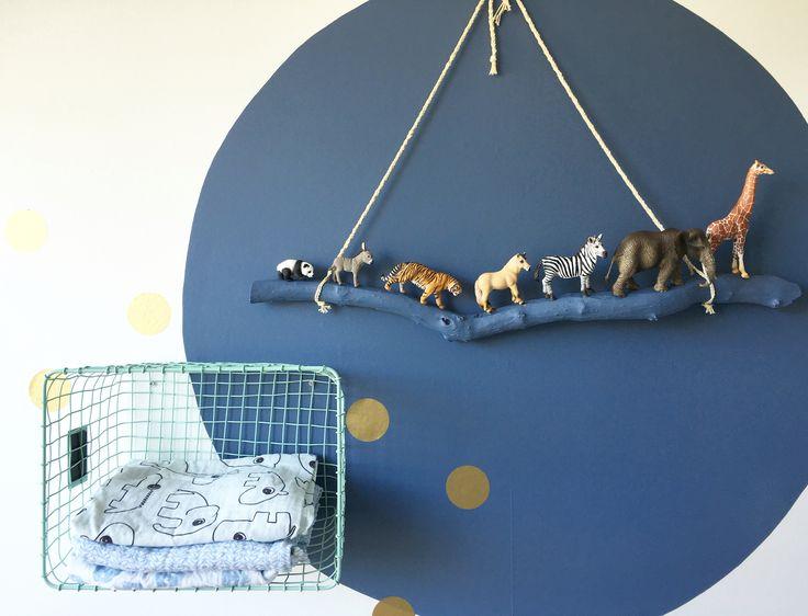Babykamer jongen diertjes diy