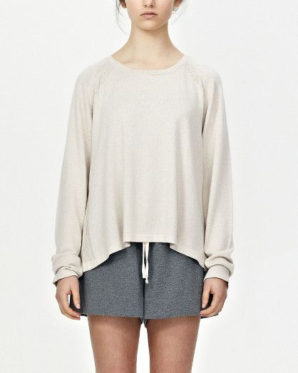 Cotton/Cashmere L/S, Natural by Commoners. Basics are like style glue - when well-chosen, they can bring any outfit together. NZ label Commoners does basics so well. This long sleeve cotton-cashmere knit shirt is perfect for that in-between weather.
