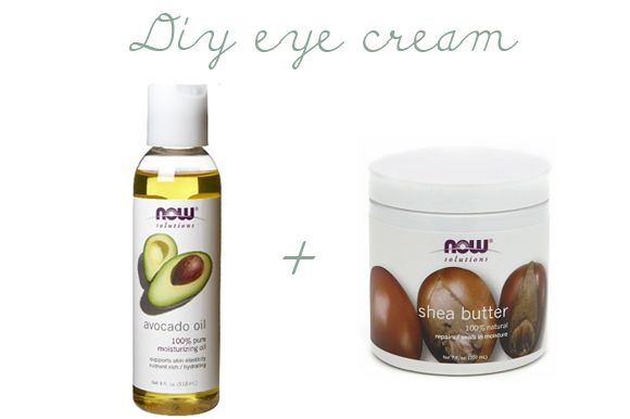 ~ DIY EYE CREAM ~ Both avocado oil and shea butter are known for their hydrating and moisturizing properties, making it the perfect marriage of ingredients for the delicate under eye area.   Directions:  Take a few drop of avocado oil and gently massage under each eye until fully absorbed. Finish by applying a thin layer of shea butter on top.Gently massage into your skin until absorbed.