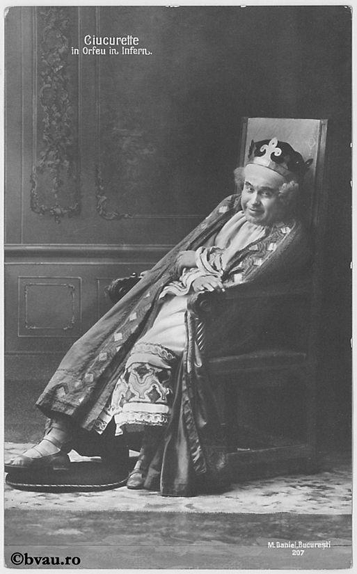 """Ciucurette în """"Orfeu în Infern"""". Imagine din colecțiile Bibliotecii """"V.A. Urechia"""" Galați."""