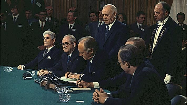 In January of 1973 the Paris Peace Accords were signed after four years of negotiations, with the intent to establish peace in Vietnam and end the war. The Accords were signed by the United States, and North and South Vietnam. The agreement stated that armies from both North and South Vietnam would hold their positions, the United States military would withdraw from combat and leave the country, and both sides of the conflict would work together to find a peaceful path to reunification. T...