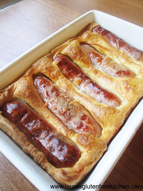 Toad In The Hole -- Toad in the hole is a traditional British dish. Its made with sausages in a Yorkshire pudding batter.