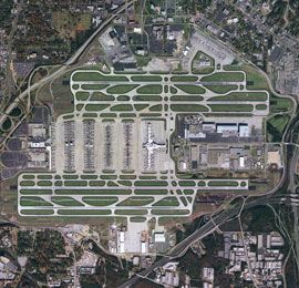 Hartsfield–Jackson Atlanta International Airport, GA - one of the busiest airports in the US.