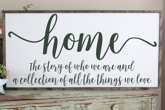 Home Is The Story Of Who We Are Wood Sign Welcome Home Wall Art Farmhouse Decor Wood Sign Saying Large Wood Sign Living Room Sign In 2020 Sign Quotes Wood Signs