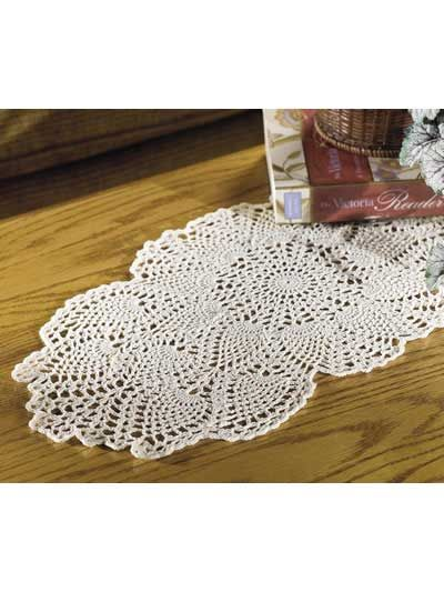 Coffee Table Topper Pineapple Doily Free Pattern