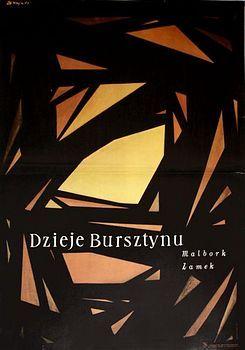 By Zbigniew Kaja (1924-1983), Story of amber, 1 9 6 9, Dzieje bursztynu, Theater poster.