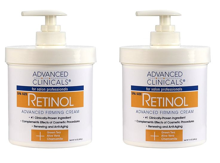 Advanced Clinicals Retinol Cream. Value Set- Two spa size 16oz bottles with pump. Best Anti-Wrinkle Cream with Retinol and Antioxidants. Ultimate firming cream for face, neck, hands, body. => Trust me, this is great! Click the image. : Face treatments and masks