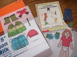 "Printable Felt Board for the book ""The Jacket I Wear in the Snow"" from Making Learning Fun"
