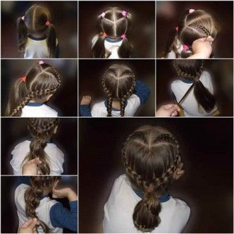 Heart-Shaped-Braid Hairstyle-F