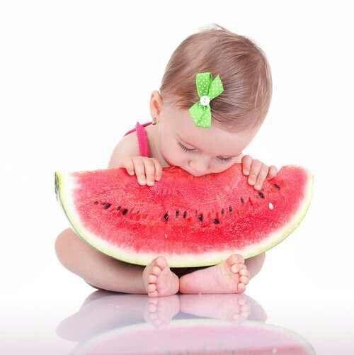 Summer baby girl pic #summer #baby #watermelon