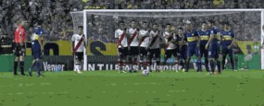 Juan Roman Riquelme rolling back the years with a sublime free kick in Super Clasico.