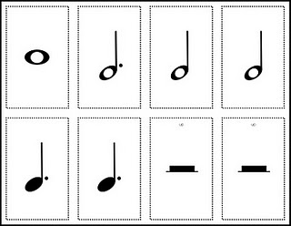 So, this isn't exactly a high-quality music education lesson.  HOWEVER, the free printable flash cards are good :)