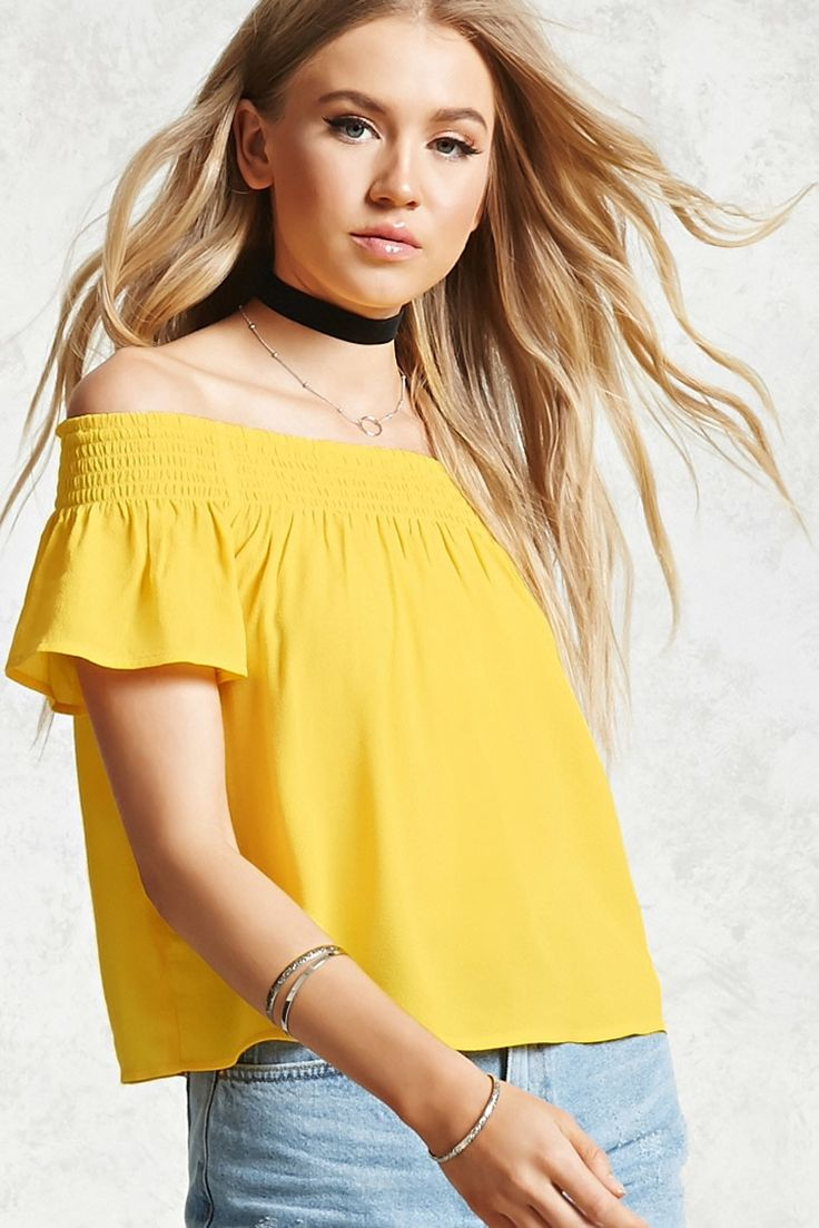 Off-the-Shoulder Lace Crop Top - Women - 2000190855 - Forever 21 EU English