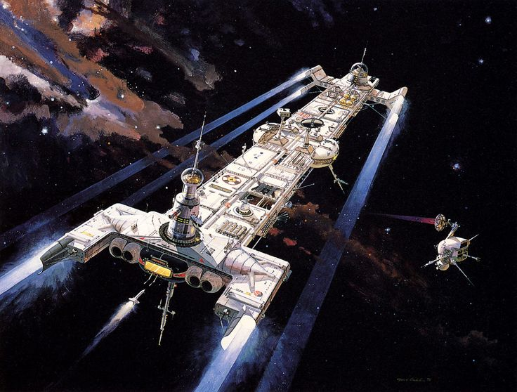 concept ships: The Black Hole spaceship illustration by ...