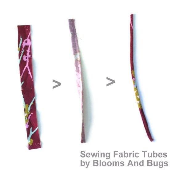 Well, duh.  Why didn't I think of this?!  Great hint - and a lot cheaper than those turning tools that never seem to work the way they're supposed to.  From Blooms N Bugs -  sewing fabric tubes