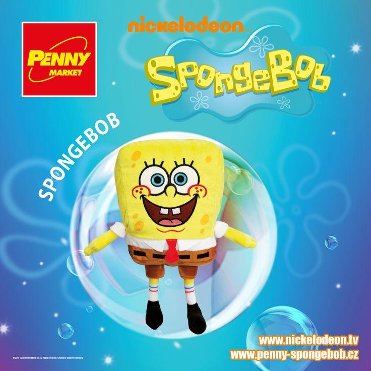 Optimista SpongeBob nezkazí žádnou zábavu! Se svými přáteli žije v podvodním světě Zátiší Bikin a pracuje v restauraci Křupavý krab jako kuchař.   Sbírejte známky za nákupy v Penny a získejte plyšového SpongeBoba. Za každých 200 Kč nákupu dostanete 1 známku. Více informací o známkách a cenách SpongeBoba a jeho kamarádů najdete na www.penny-spongebob.cz.