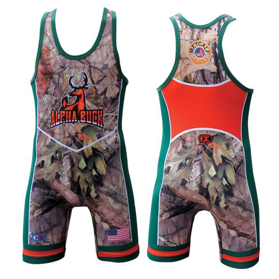 Cliff Keen Brent Metcalf Mossy Oak Series Sublimated Buck Singlet