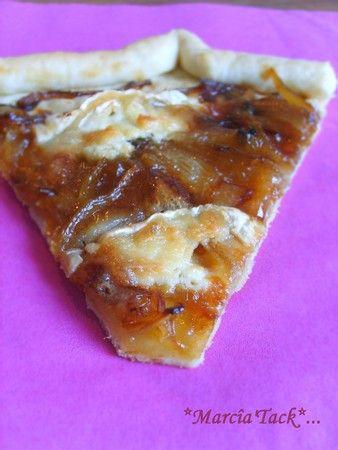 Tarte rustique à la confiture d'oignons et au chèvre - Recette - Marciatack.fr : recettes faciles | Tout pour cuisiner !